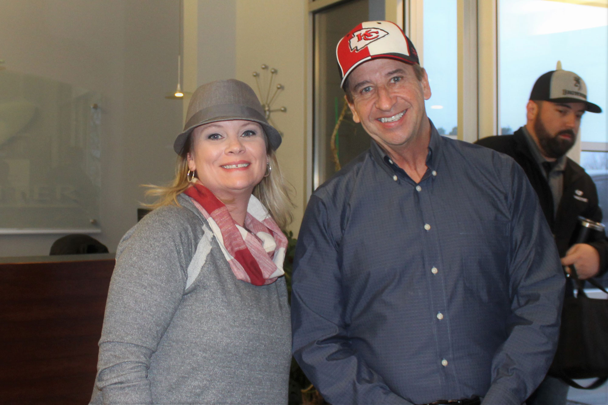 Hat Day Greg and Amey