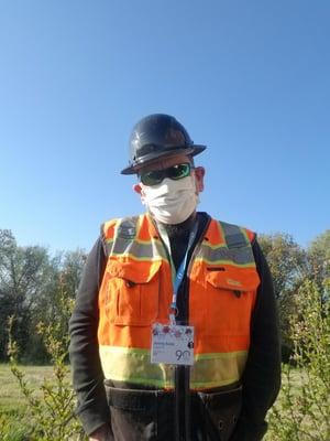 Jeremy Koole in PPE gear wearing mask-1