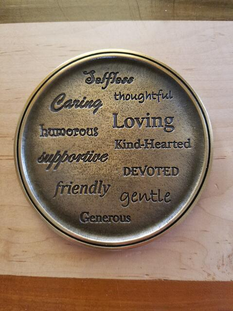 Brian Hoffman's funeral home magnet with characteristics he embodied