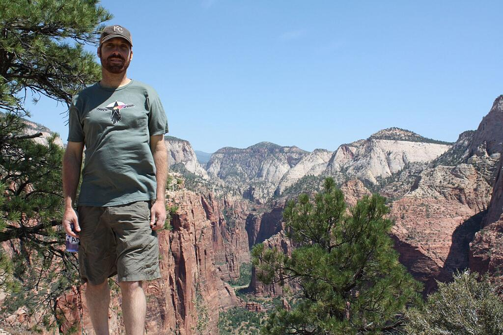 Brian at Zion National Park Angel's Landing June 2011