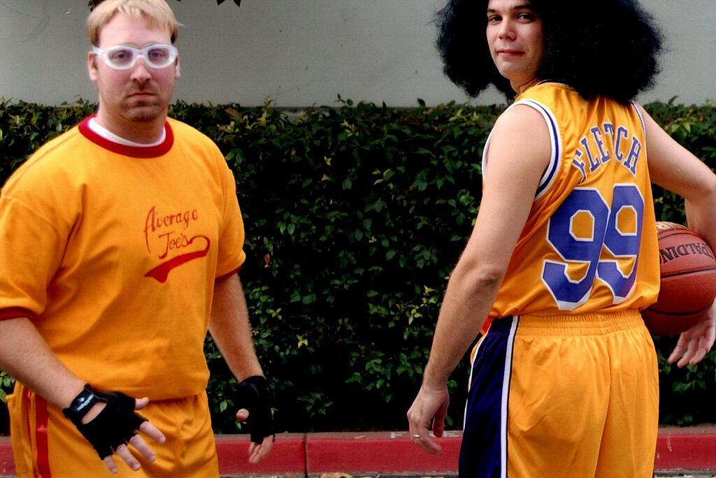 Brian playing dodgeball at the Wachter office in Irvine, California