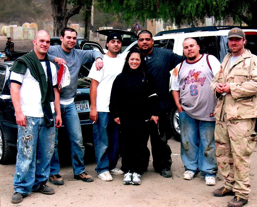 Wachter Irvine, California office playing paintball