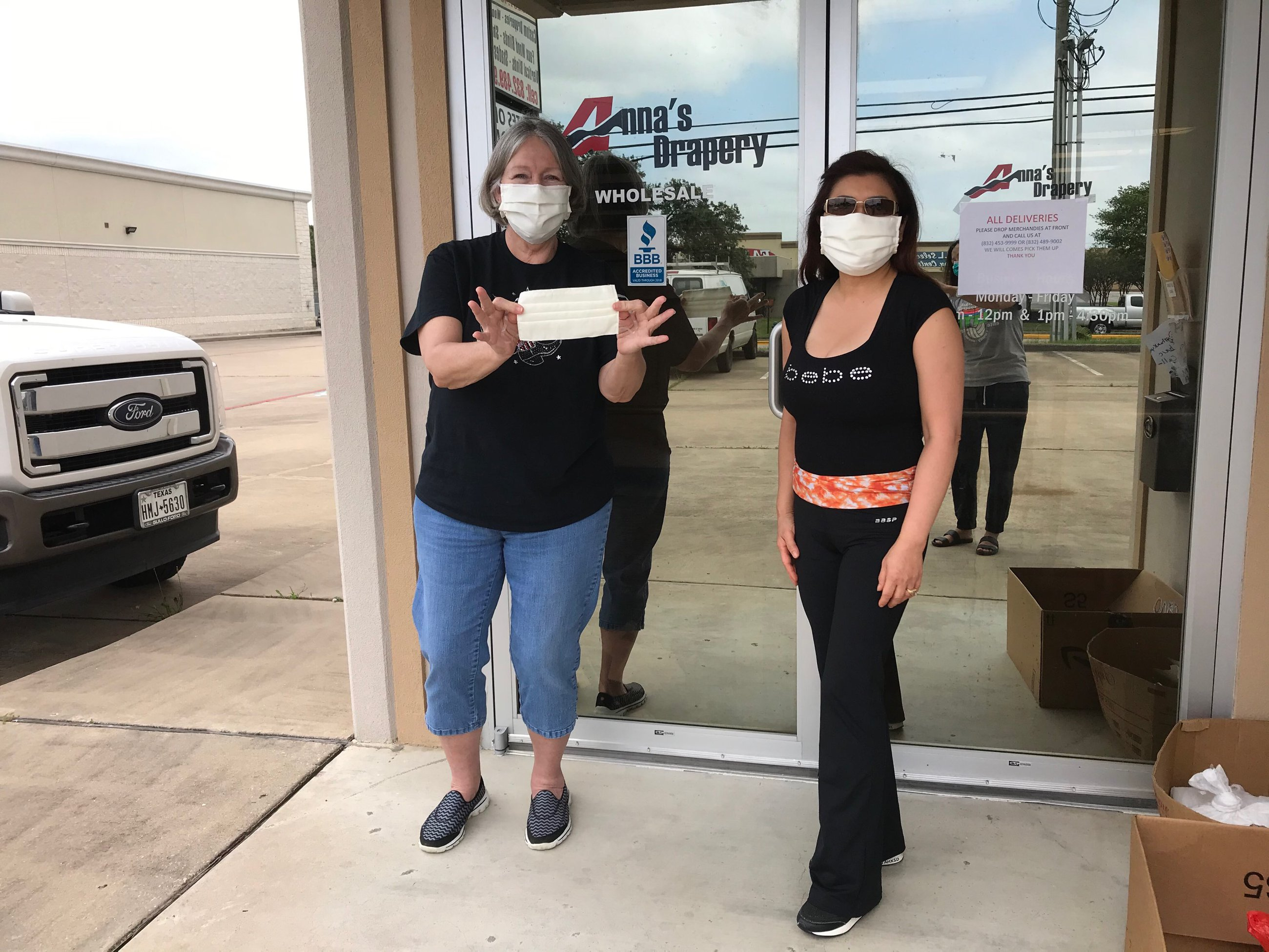 How a Selfless Houston Drapery Business is Helping Essential Workers