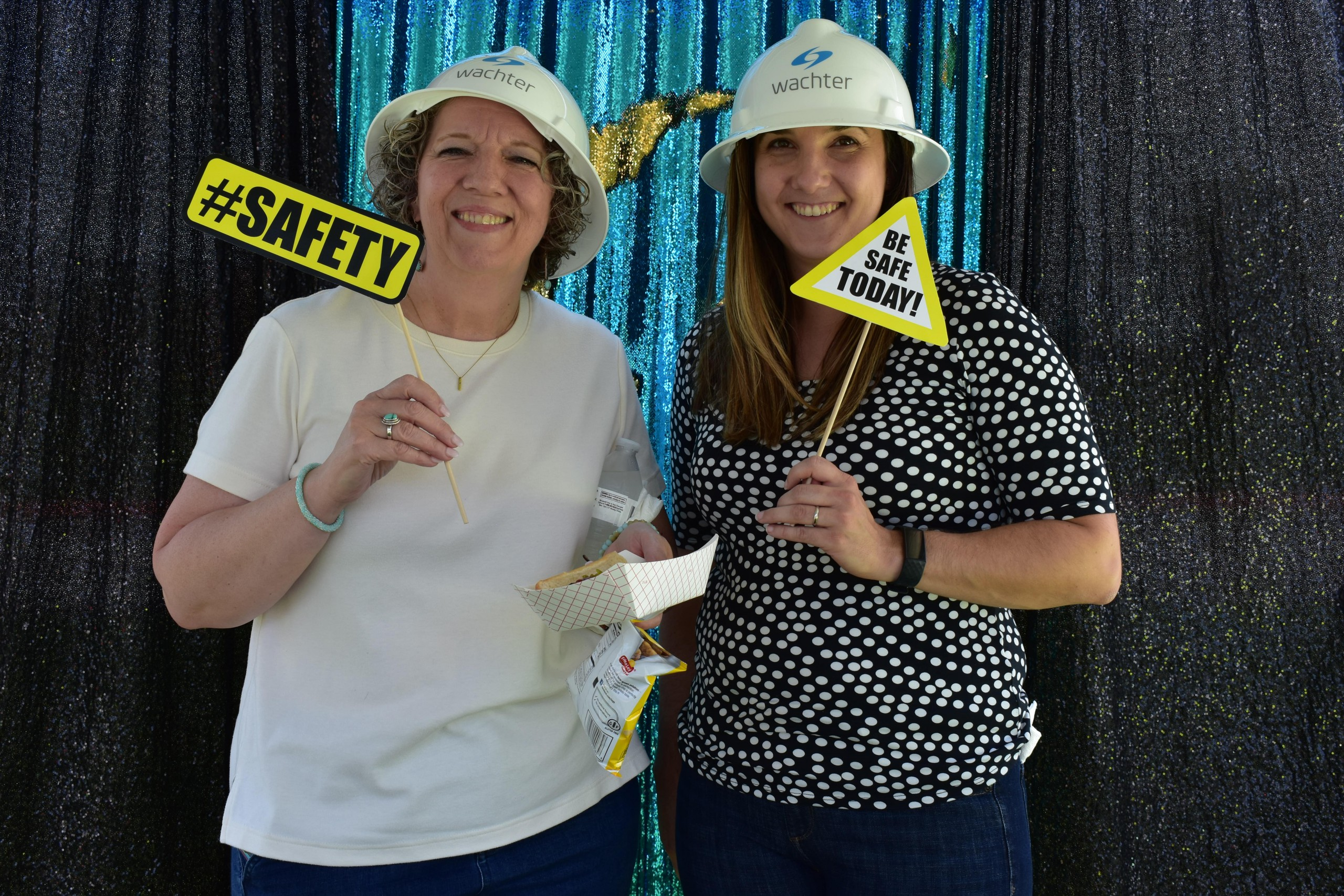 Employee appreciation for safety at the safety picture booth