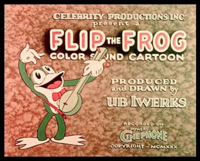 Flip the Frog color sound cartoon by UB Iwerks ad