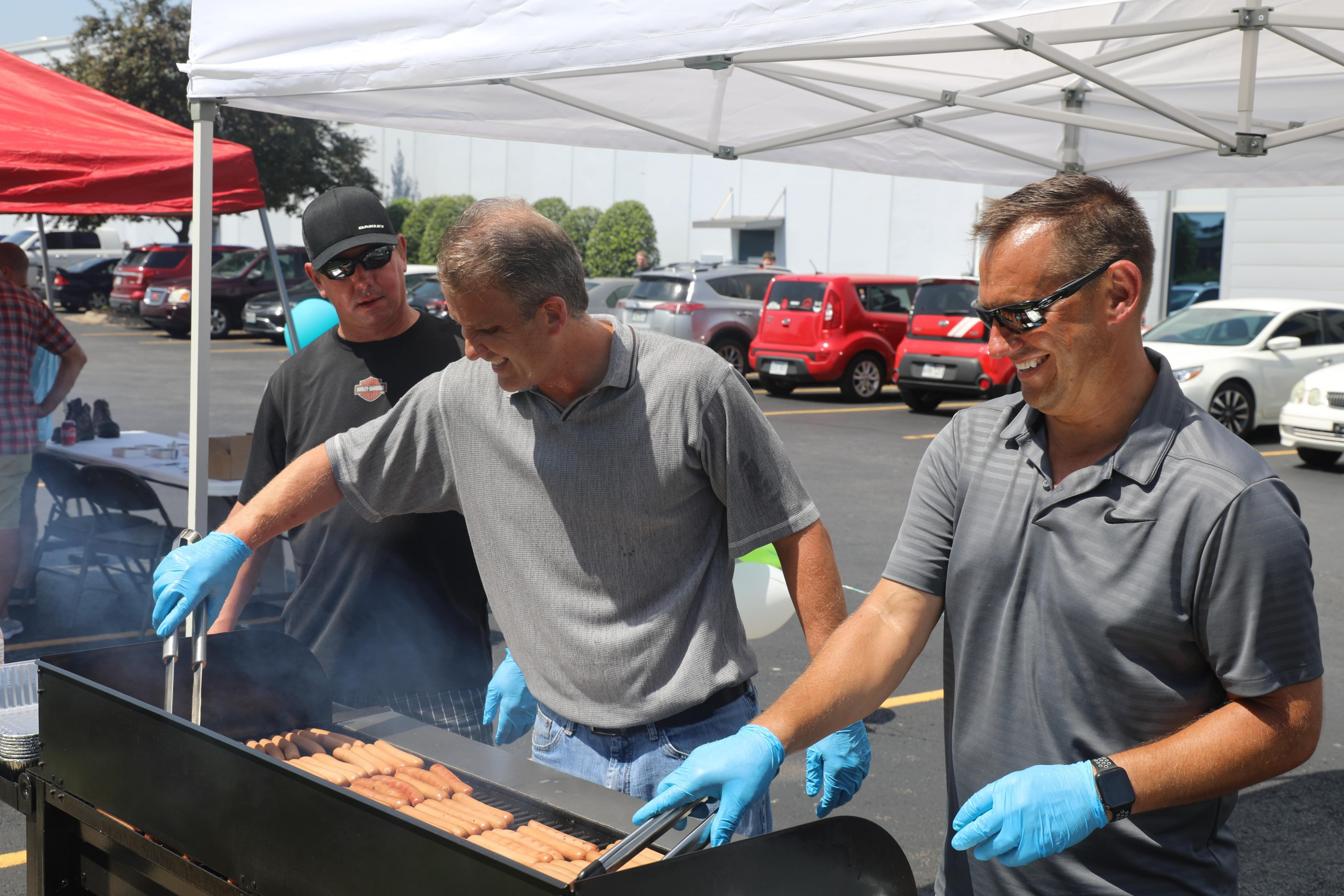 Grilling at the Wachter Safety Fair