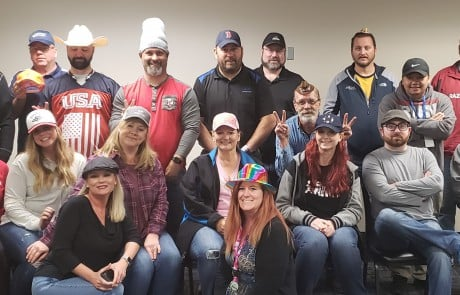 Wachter employees show support for Make-a-Wish Foundation during Hat Day