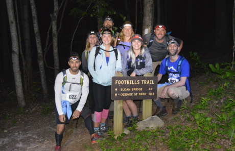 Wachter employees with their hiking group at Trailblaze Challenge