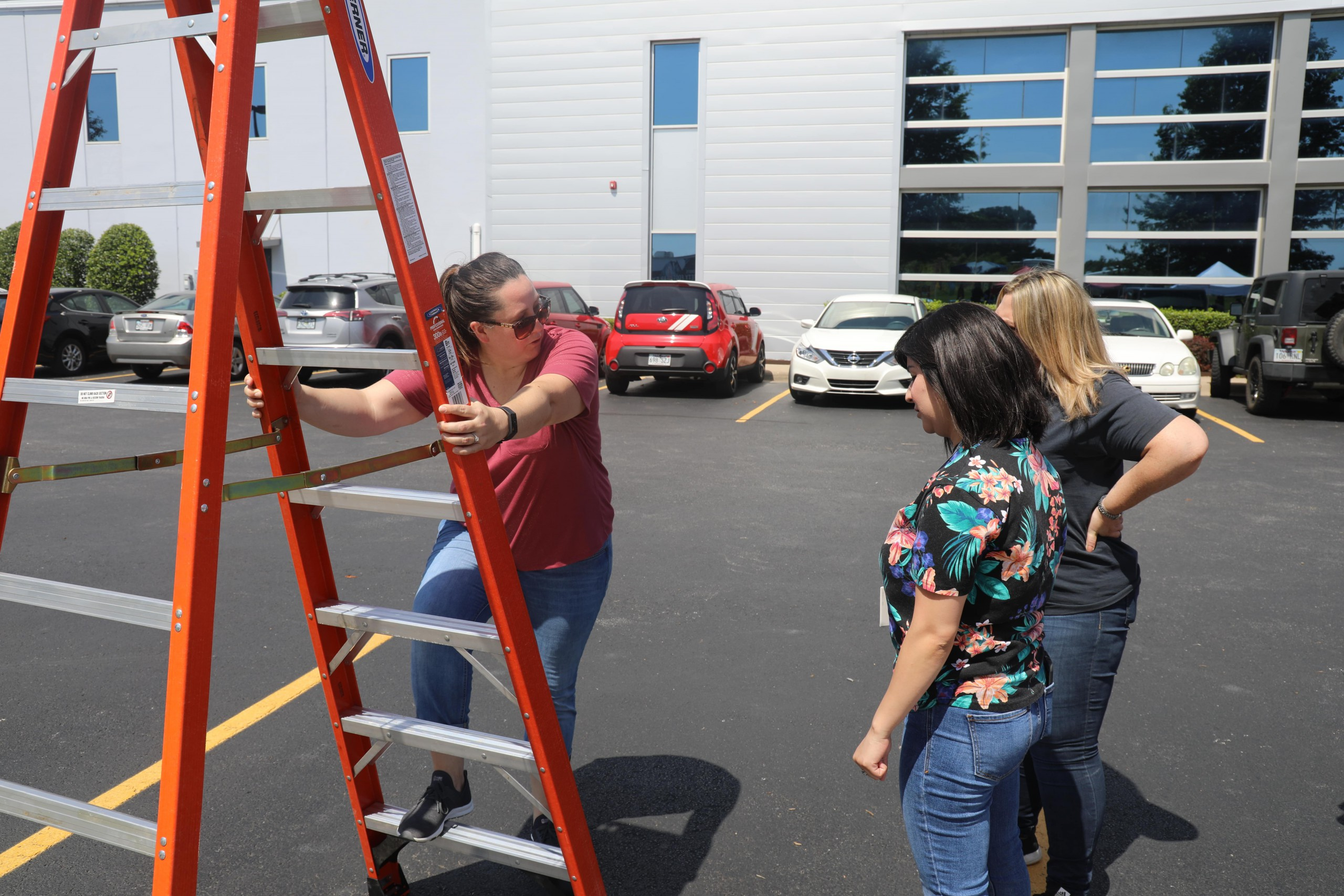 Ladder Safety Training at the Wachter Safety Fair