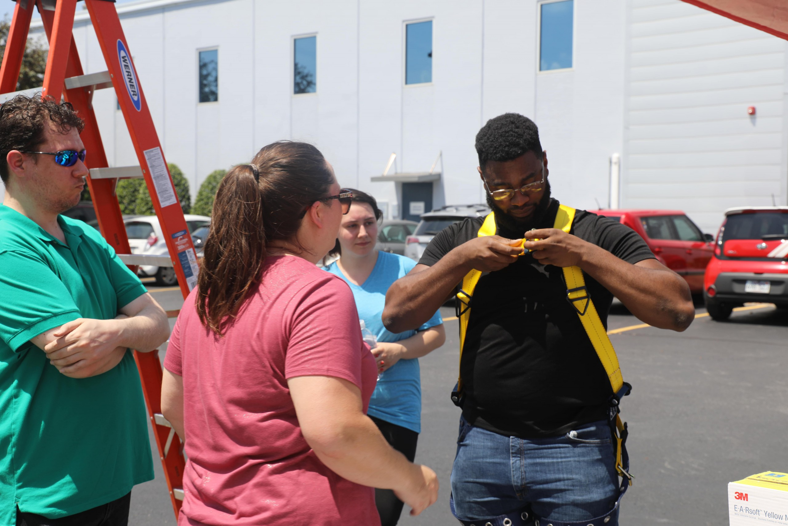 Safety Harness Training at the Wachter Safety Fair