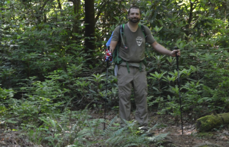 Wachter employee hikes along Foothills Trail in North Carolina